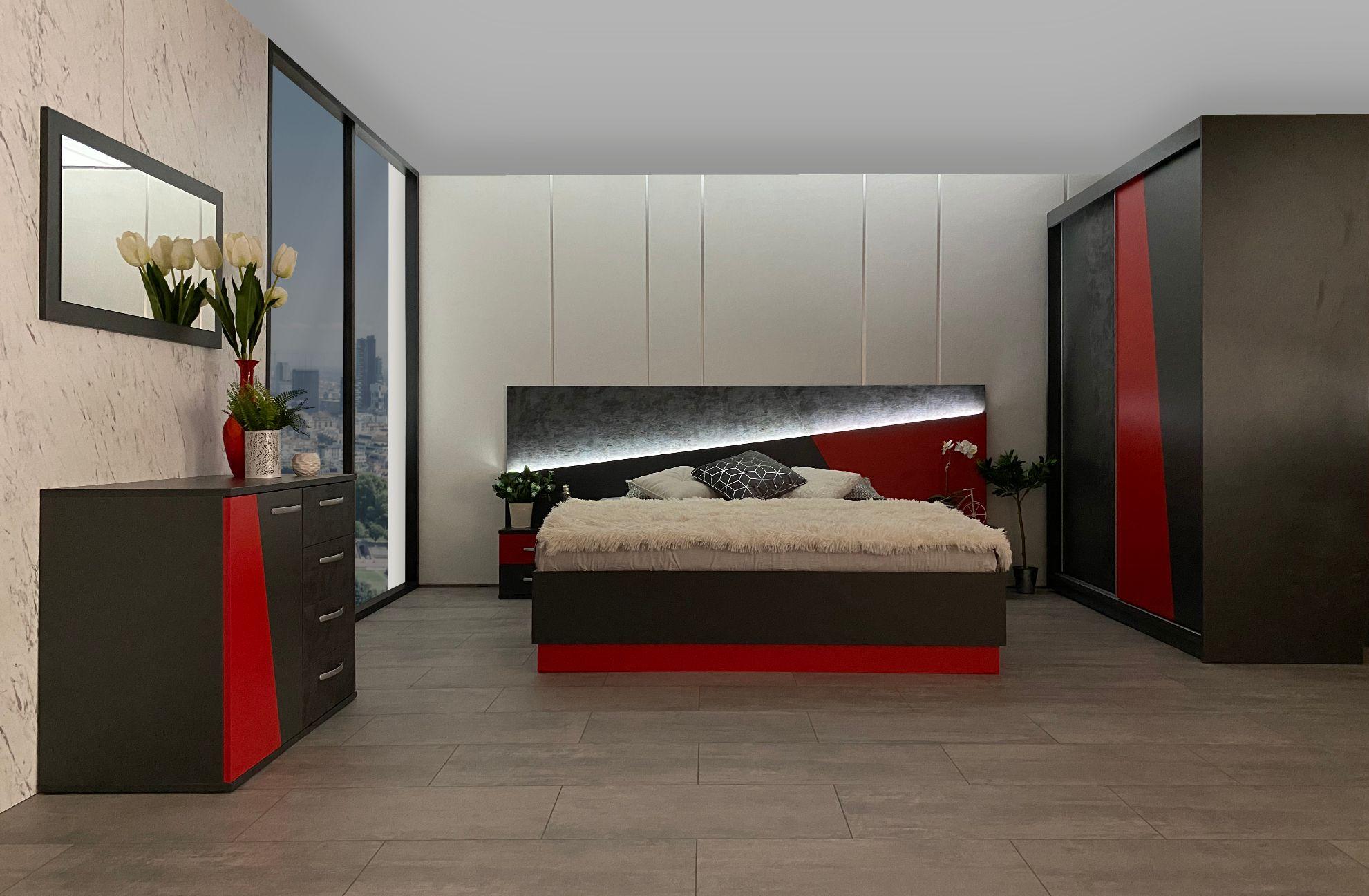 Червено и черно – спалня на страстта